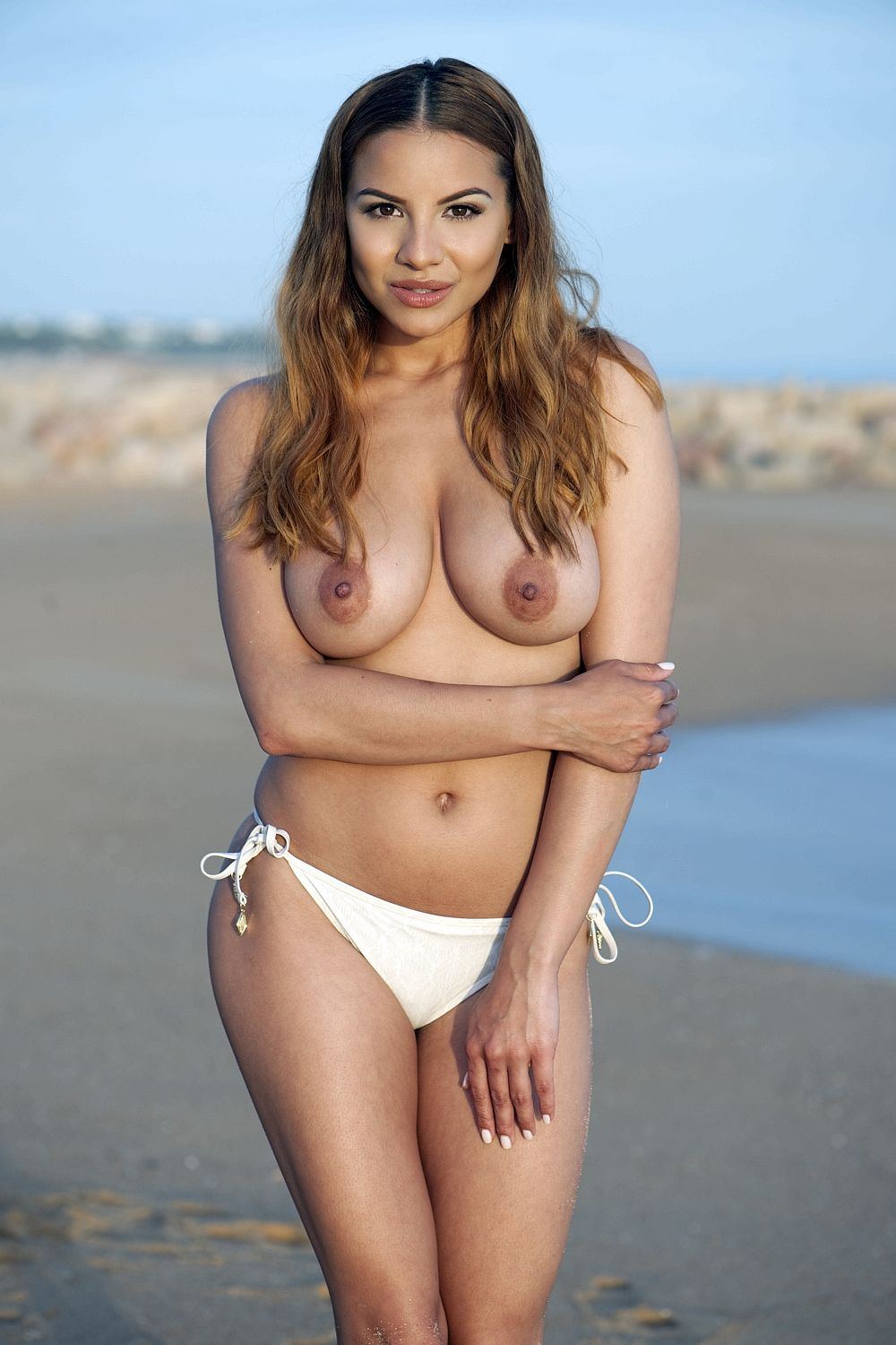 Beach mexico breasts