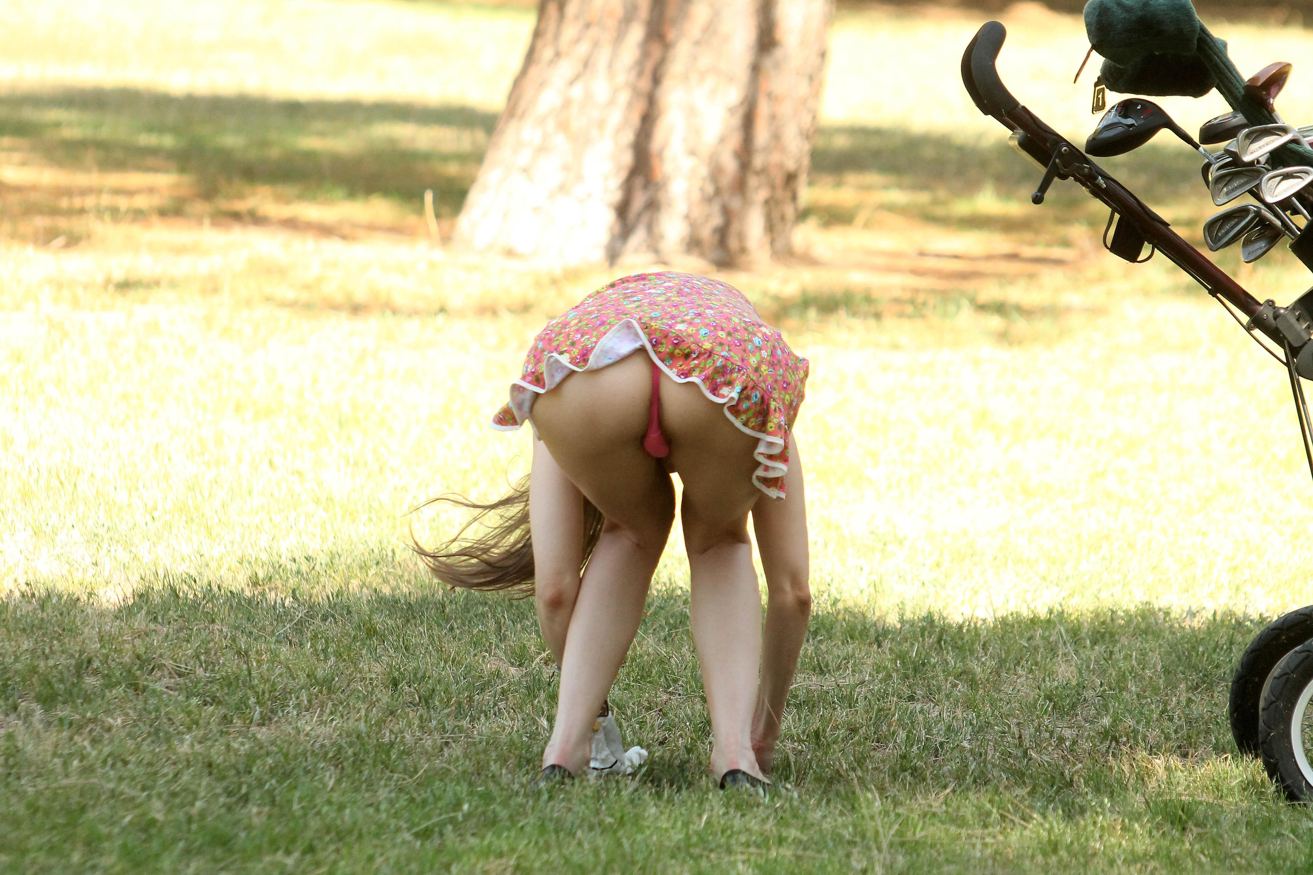 alicia-arden-ass-flash-pink-thong-panties-upskirt-golf-swing-14